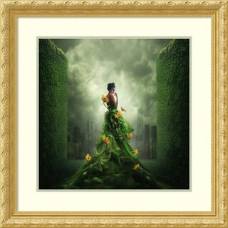Framed Art Print 'Go Green' by Hardibudi 30 x 30-inch