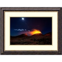 Framed Art Print 'Lava Flow With The Moon' by Barathieu Gabriel 28 x 21-inch