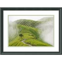 Framed Art Print 'Ping'An Rice Terraces' by Miha Pavlin 22 x 17-inch