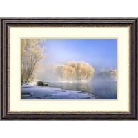 Framed Art Print 'Morning Fog And Rime In Kuerbin' by Hua Zhu 32 x 24-inch