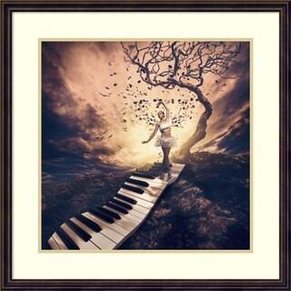 Framed Art Print 'Rhapsody' by Jackson Carvalho 28 x 28-inch