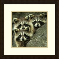Framed Art Print 'Tres Banditos' by Mircea Costina 20 x 20-inch