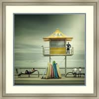 Framed Art Print 'The Life Guard' by Adrian Donoghue 26 x 26-inch