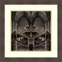 Framed Art Print 'Tribute To Escher' by Jacek Stefan 22 x 22-inch