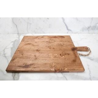 "Pine Medium Rectangle Charcuterie Board, 22""L Natural"