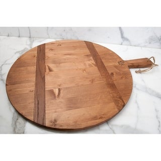 "Pine Large Round Charcuterie Board, 23""W Natural"
