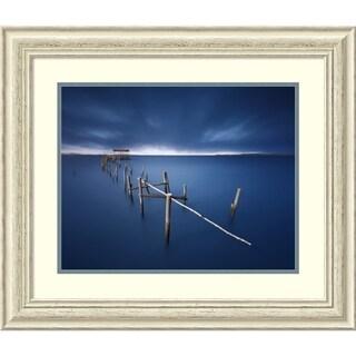 Framed Art Print 'Carrasqueira Azul' by Juan Pablo de