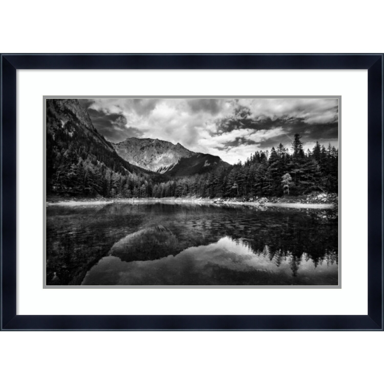 Framed art print black and white mountain by dragan jovancevic