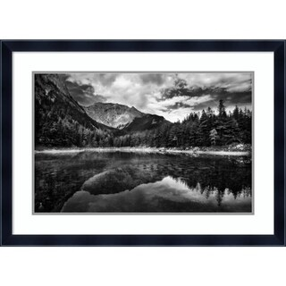 Framed Art Print 'Black and White Mountain' by Dragan Jovancevic