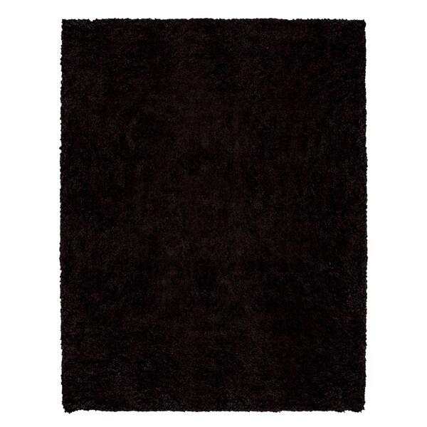 Beaufort Comfort Dark Brown Shag Rug (7'10 x 10'4)