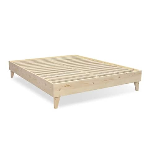 Kotter Home DIY Stainless Wood Mid-century Platform Style Bed