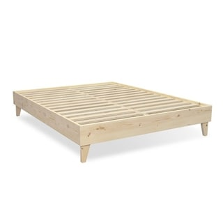 Kotter Home Natural Wood Mid-century Platform Style Bed