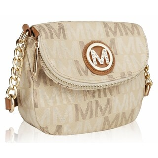 MKF Collection by Mia K. Farrow Camila M Signature Crossbody Bag (Option: Beige)