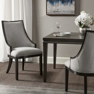 Madison Park Jackie Brown Wood Dining Chair with Cream-colored Upholstery