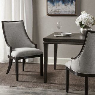 Madison Park Jackie Brown Wood Dining Chair with Cream-colored Upholstery (Option: Cream)