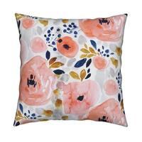 Grey Distressed Damask Pillow
