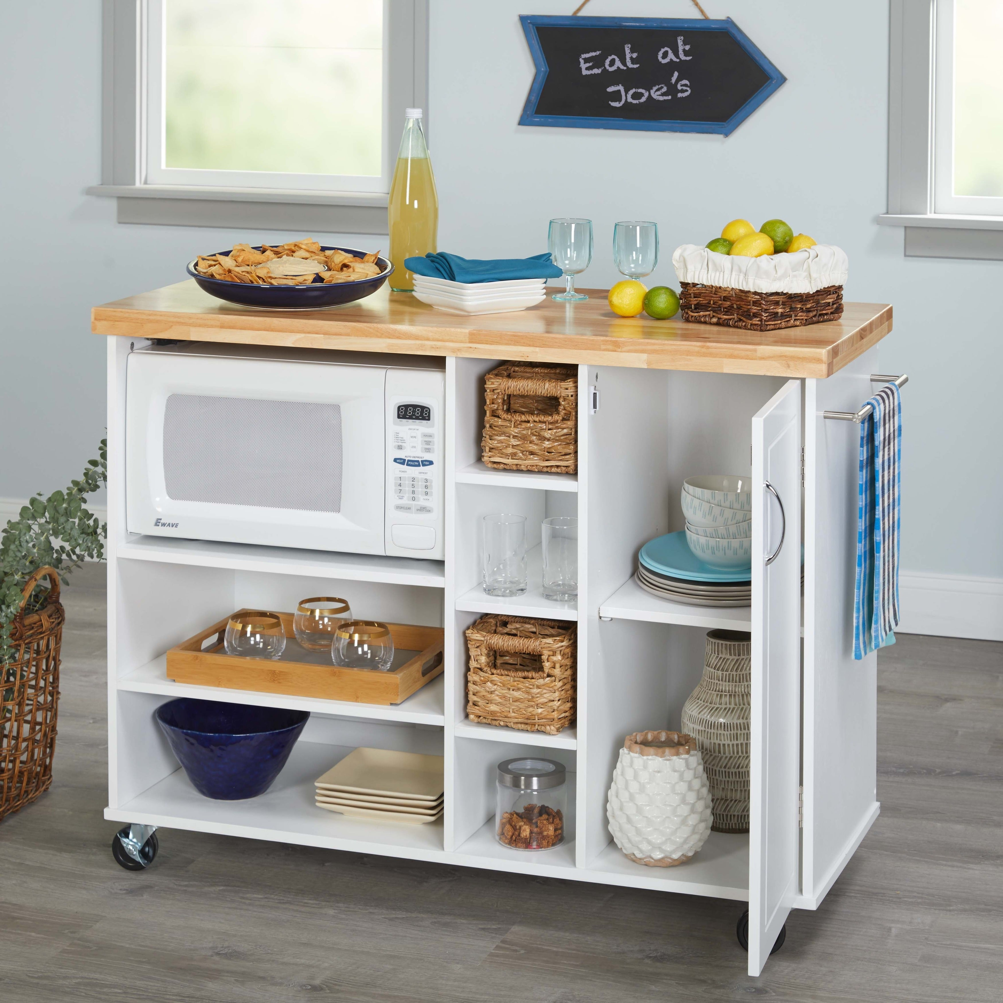 Shop Simple Living Rolling Galvin Microwave Cart