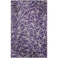 Carson Carrington Sonderborg Modern Geometric Purple/ Cream Vibrant Area Rug - 8' x10'