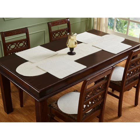 Placemats Solid 15 Round Ivory
