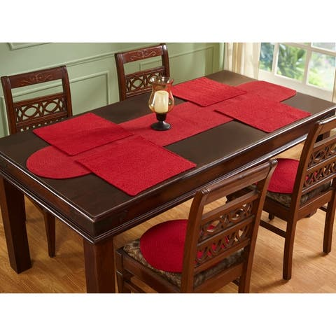 Placemats Solid 15 Square Red