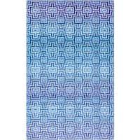 Mohawk Blue Prismatic Linear Maze Geometric Area Rug - 8' x10'
