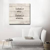 Ready2HangArt 'Exhale-Zen' Inspirational Canvas Art - Brown
