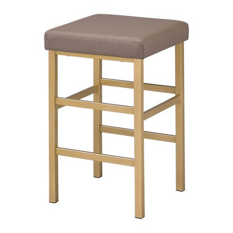 Porch & Den Moscato Gold 26-inch Backless Stool