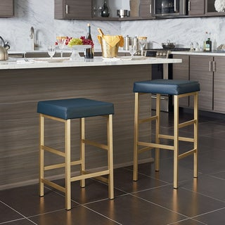 Porch & Den Moscato Gold 26-inch Backless Stool (As Is Item)
