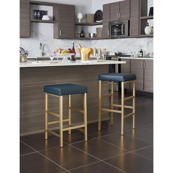 Brilliant Shop Osp Home Furnishings 26 Inch Gold Backless Stool Free Pdpeps Interior Chair Design Pdpepsorg