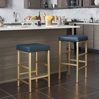 OSP Designs Gold 26-inch Backless Stool