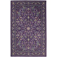 Gracewood Hollow Sciascia Purple Traditional Floral Area Rug - 8' x10'