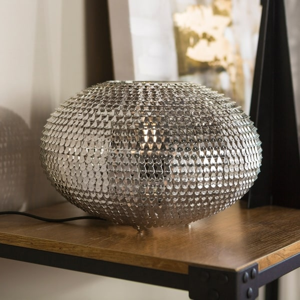 "8"" Globe Sparkle Table Lamp - 8 x 8 x 12h"