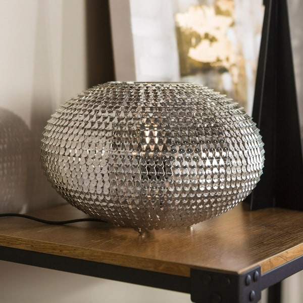 8-inch Globe Sparkle Table Lamp