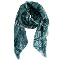 Ladies Soft Merino Wool Shawl, Hand Printed Shawl, Soft and Light Shawl, Handmade Accessory