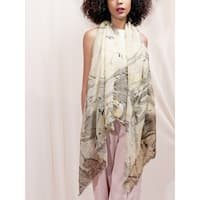 Soft Cotton Shawl, Marble Hand Dyed Shawl, Lightweight Scarf, Natural Fiber Scarf