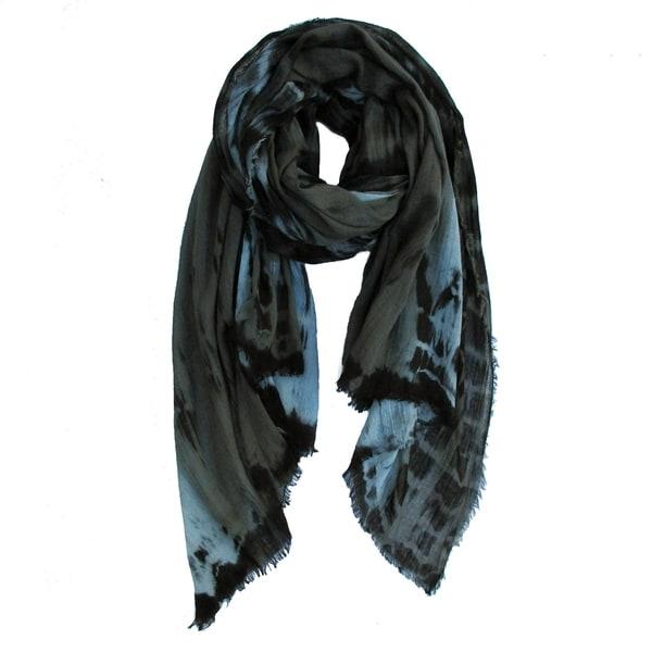 Soft Cotton Scarf, Natural Fiber Scarf, Hand Dyed Scarf, Handmade Scarf, Lightweight Scarf Shawl