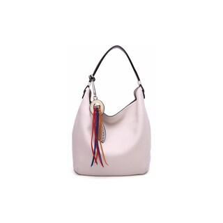 MKF Collection by Mia K. Farrow Ciara Vegan Leather Hobo Bag (Option: Bone)