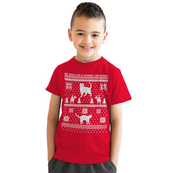 da82570657478e Shop Youth 8 Bit Cat Butt Ugly Christmas Sweater Computer Game T shirt for  Kids - On Sale - Free Shipping On Orders Over $45 - Overstock - 18849158