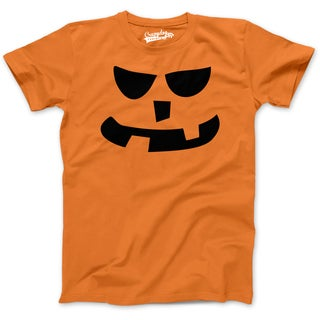 Youth 2 Teeth Square Nose Pumpkin Face Funny Fall Halloween Spooky T shirt