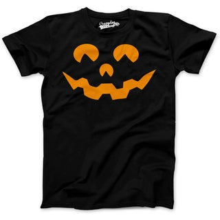 Youth Cartoon Eyes Pumpkin Face Funny Fall Halloween Spooky T shirt