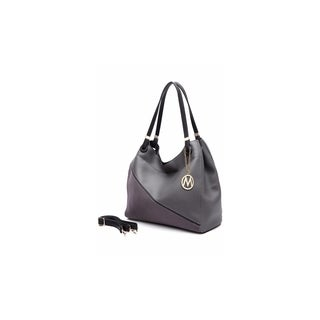 MKF Collection by Mia K Farrow Camille Two Tone Vegan Leather Hobo (Option: Coffee)