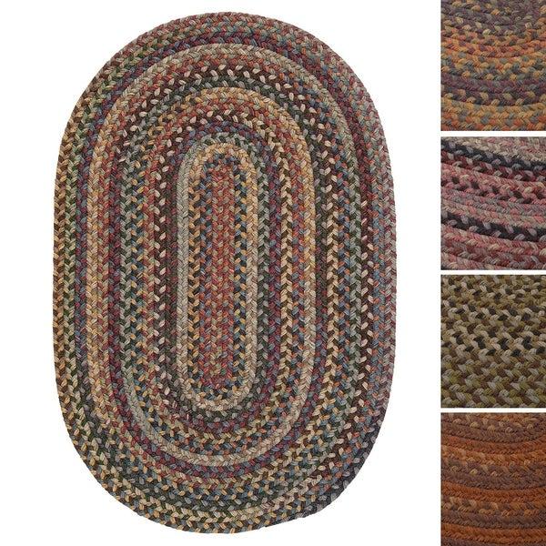 Pine Canopy Coconino Multicolored Wool Braided Rug (7' x 9')