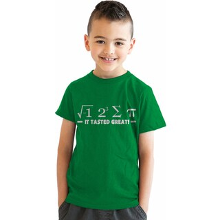 Youth Pi Delicious Funny Nerdy Math Problem Equation T shirt for Kids