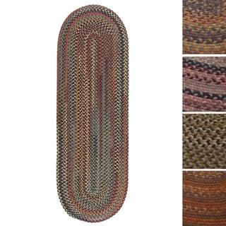Pine Canopy Tonto Multicolored Wool Braided Oval Runner Rug (2' x 9')