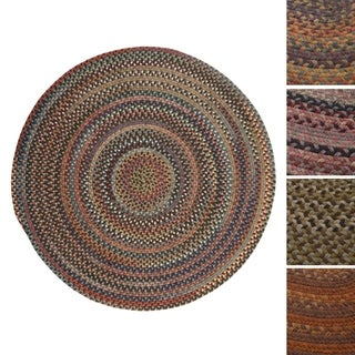 Pine Canopy Coconino Multicolored Wool Round Braided Area Rug (11' x 11')