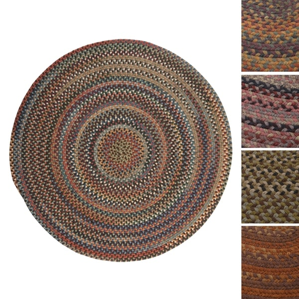 Pine Canopy Tonto Multicolored Wool Braided Rug (7' Round)