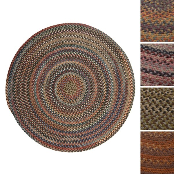 Forester Multicolored Wool Braided Rug USA MADE - 7'
