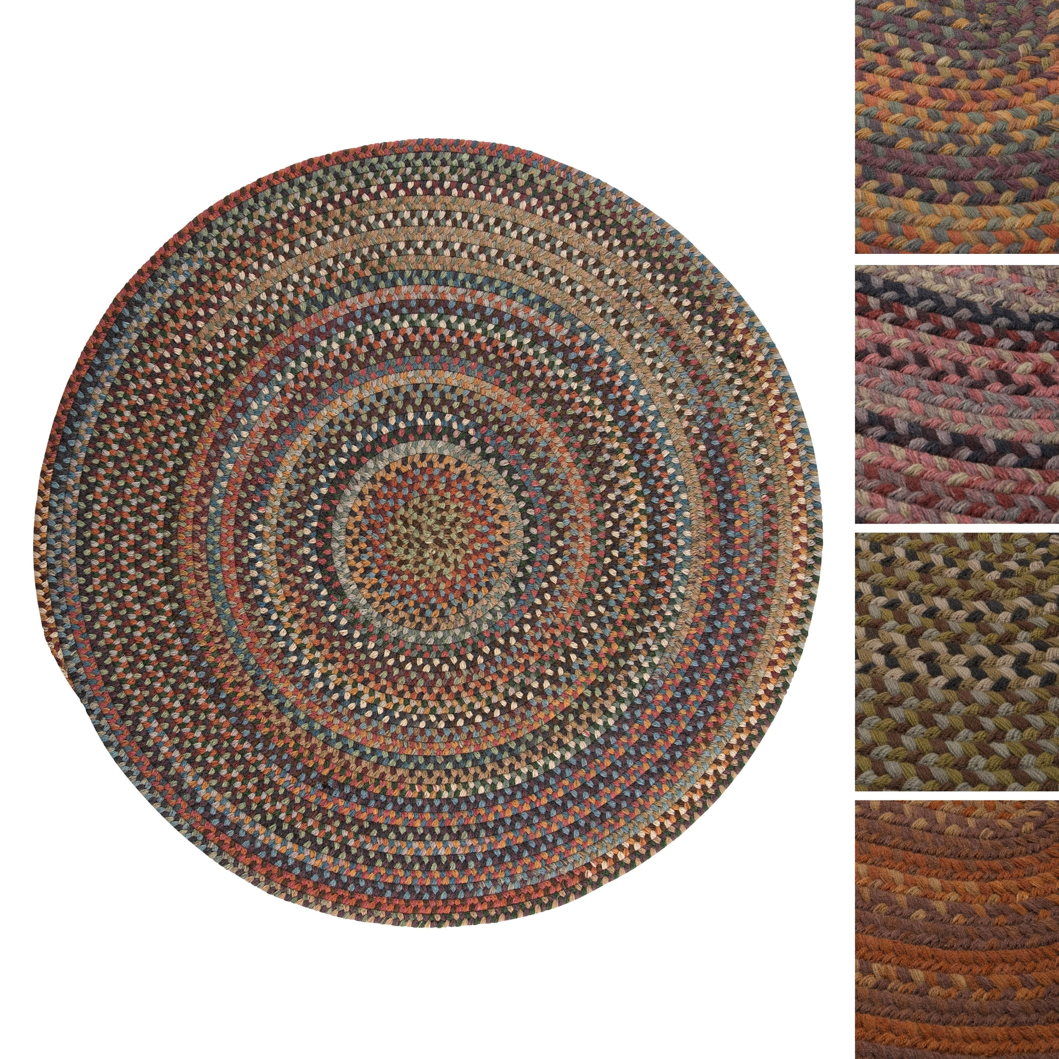Copper Grove Coconino Round Wool Braided Rug