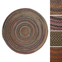 Forester Multicolored Wool Braided Rug USA MADE - 9' x 9'