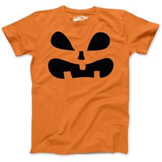 Youth Surprised Pumpkin Face Funny Fall JackOLantern Halloween Spooky T shirt